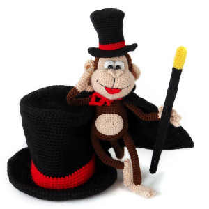мастер-класс вязаная обезьяна фокусник амигуруми